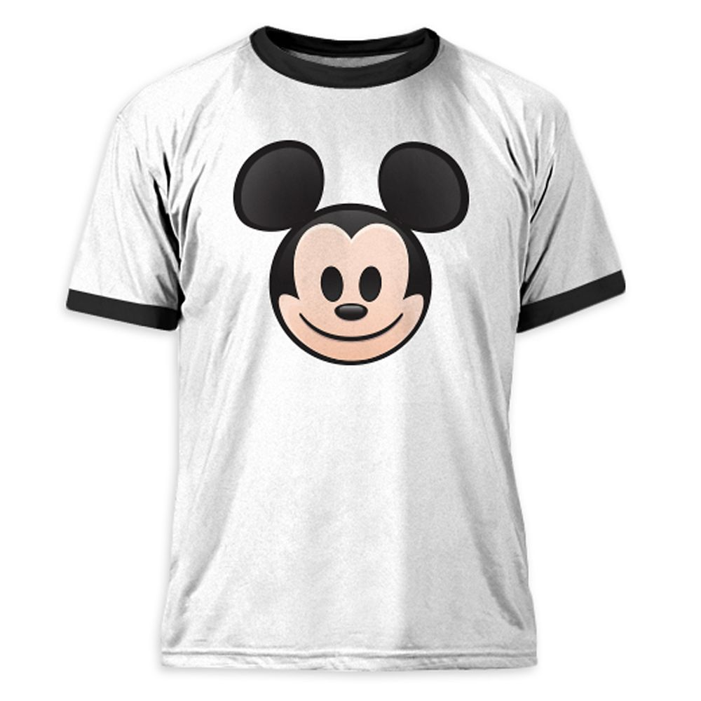 Mickey Mouse Emoji Ringer Tee for Men  Customizable Official shopDisney