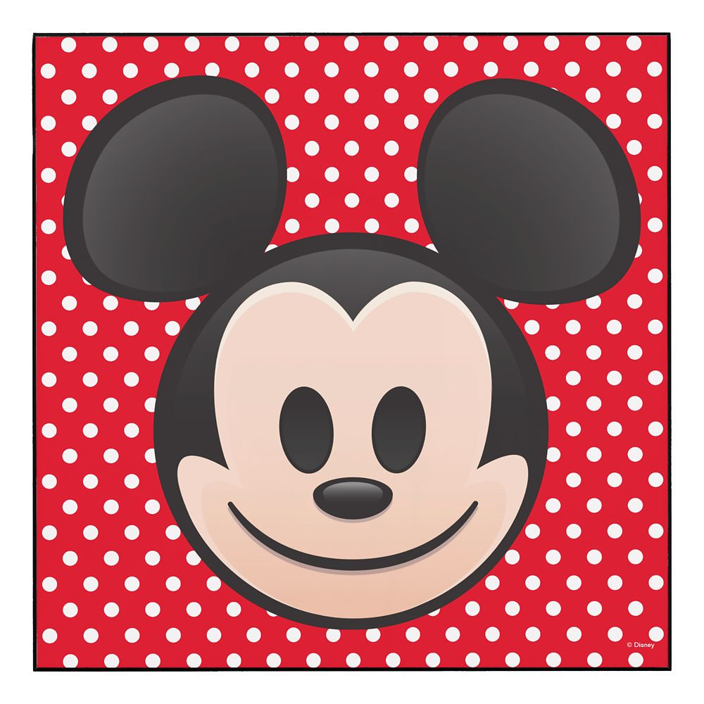 Mickey Mouse Emoji Wood Wall Art  Customizable Official shopDisney