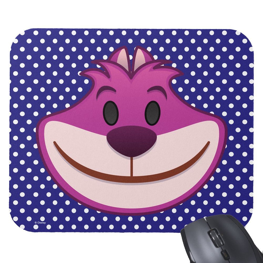 Cheshire Cat Emoji Mouse Pad – Customizable