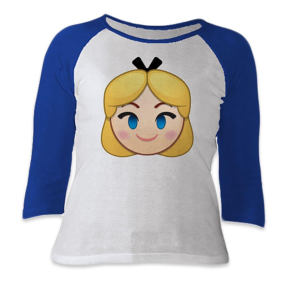 Alice Emoji 3/4 Sleeve Raglan Tee for Women  Customizable Official shopDisney