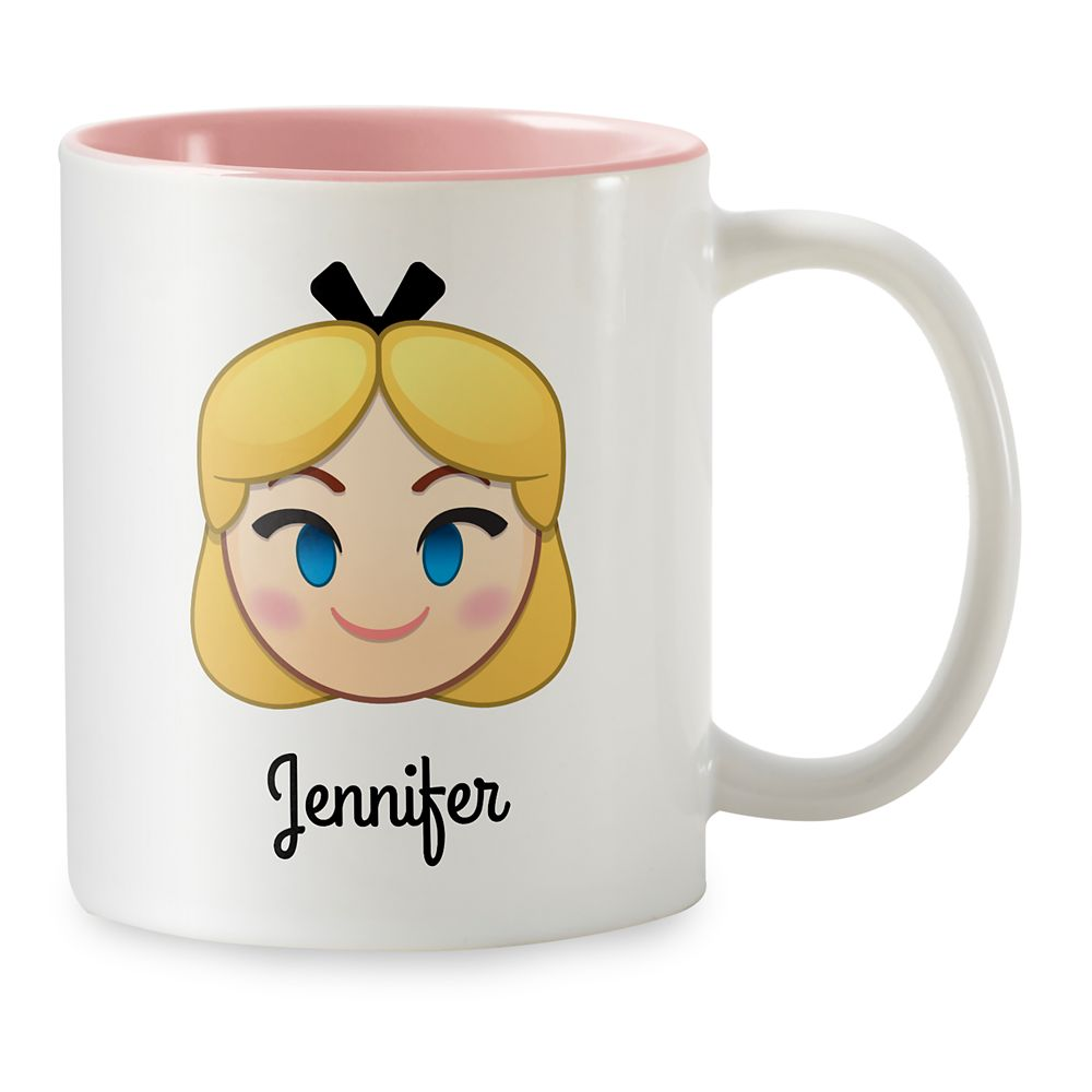 Alice Emoji Two-Tone Mug  Customizable Official shopDisney