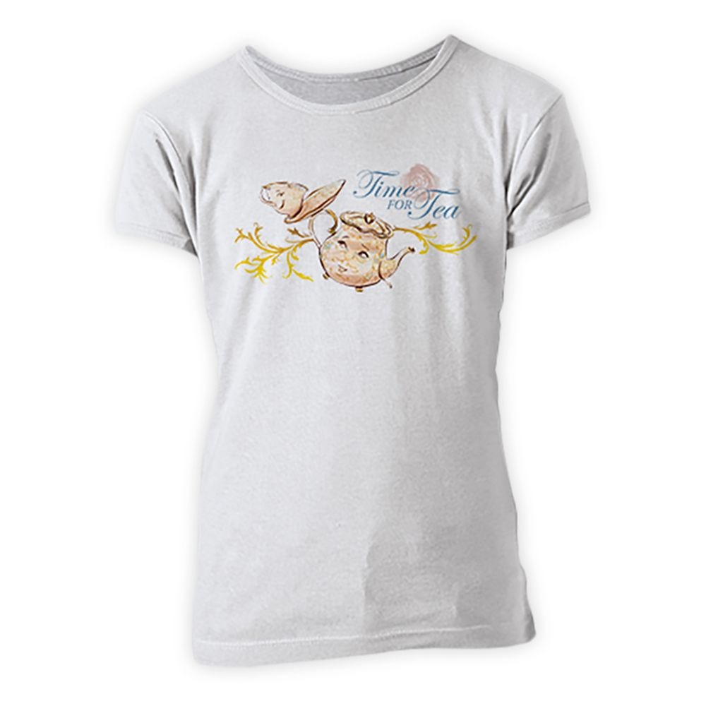 Beauty and the Beast Mrs. Potts Tee for Girls – Live Action Film – Customizable