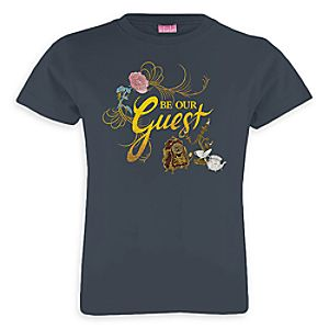 Beauty and the Beast Be Our Guest Tee for Girls – Live Action Film – Customizable