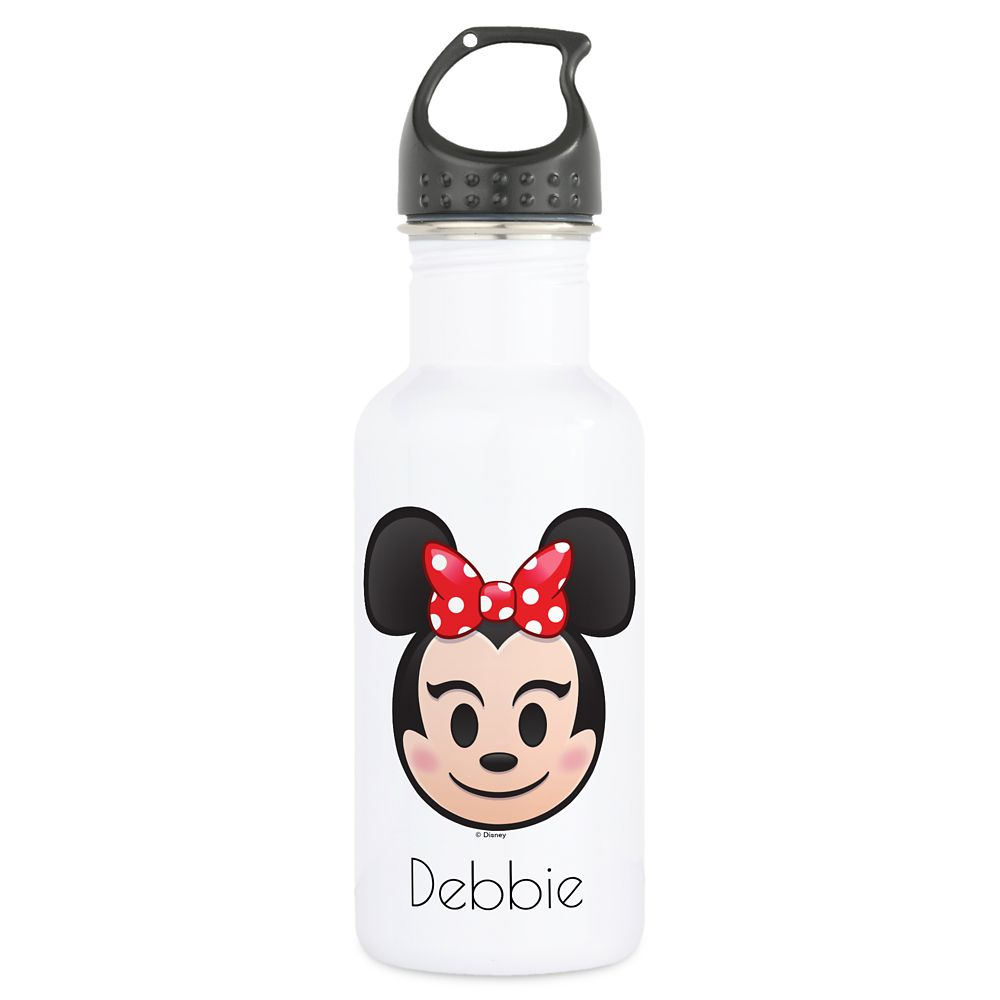 Minnie Mouse Emoji Water Bottle – Customizable
