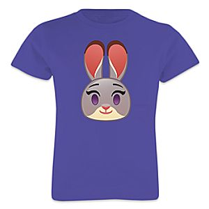 Judy Hopps Emoji Tee for Girls - Zootopia - Customizable