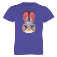 Judy Hopps Emoji Tee for Girls – Zootopia – Customizable