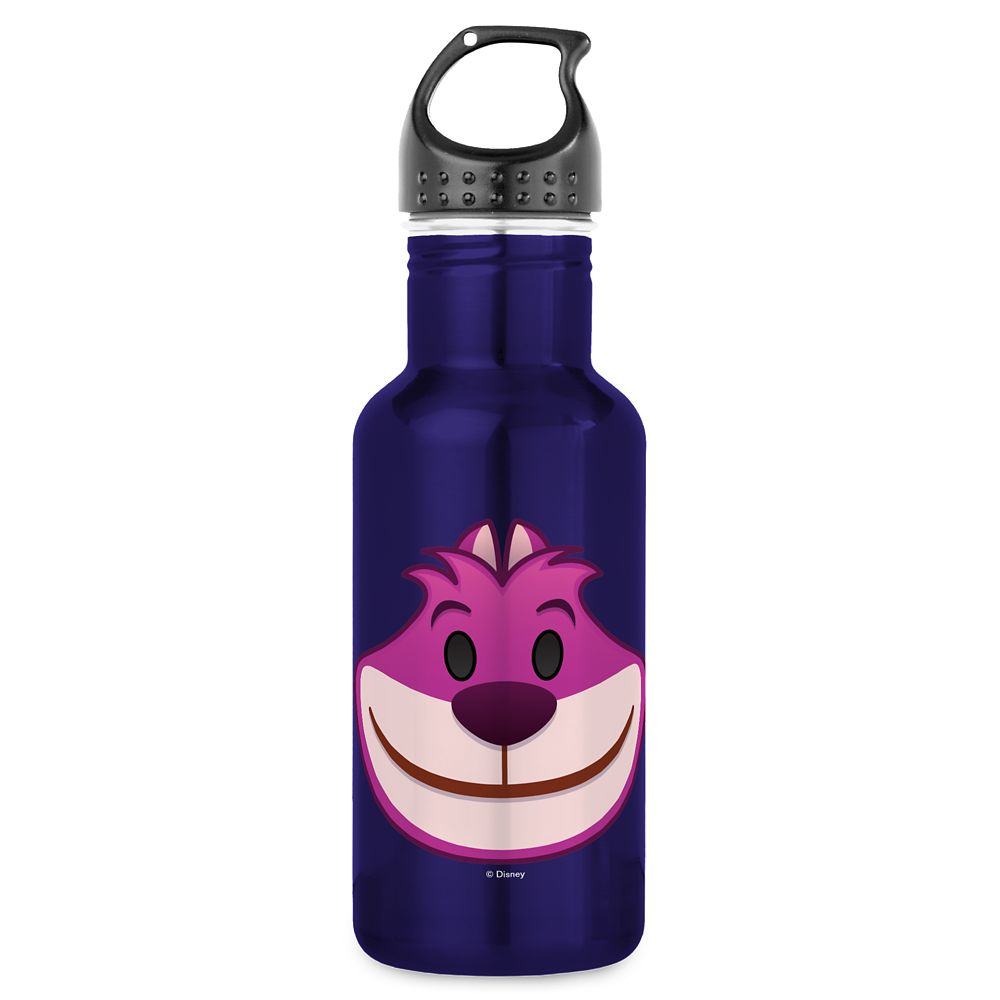 Cheshire Cat Emoji Water Bottle  Customizable Official shopDisney