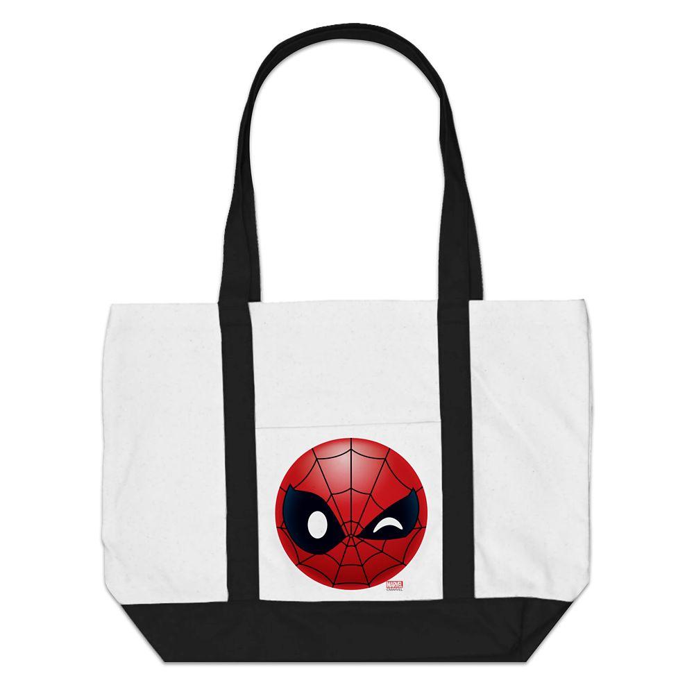 Spider-Man Winking Emoji Tote Bag  Customizable Official shopDisney