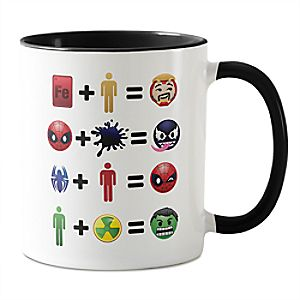 Marvel Emoji Character Equation Coffee Mug - Customizable 7200001387ZESP