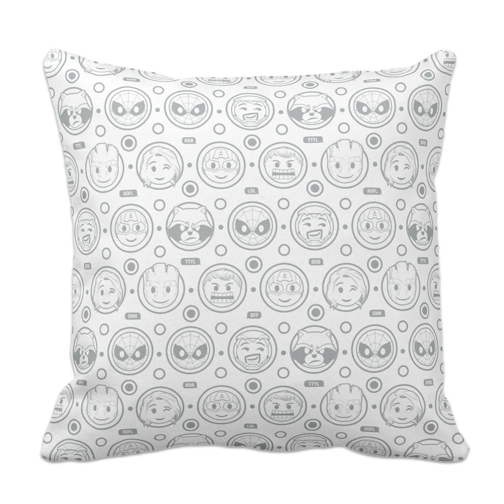 35 Amazing Marvel Gift Ideas featured by top US Disney blogger, Marcie and the Mouse: Marvel Emoji Throw Pillow Customizable Official shopDisney