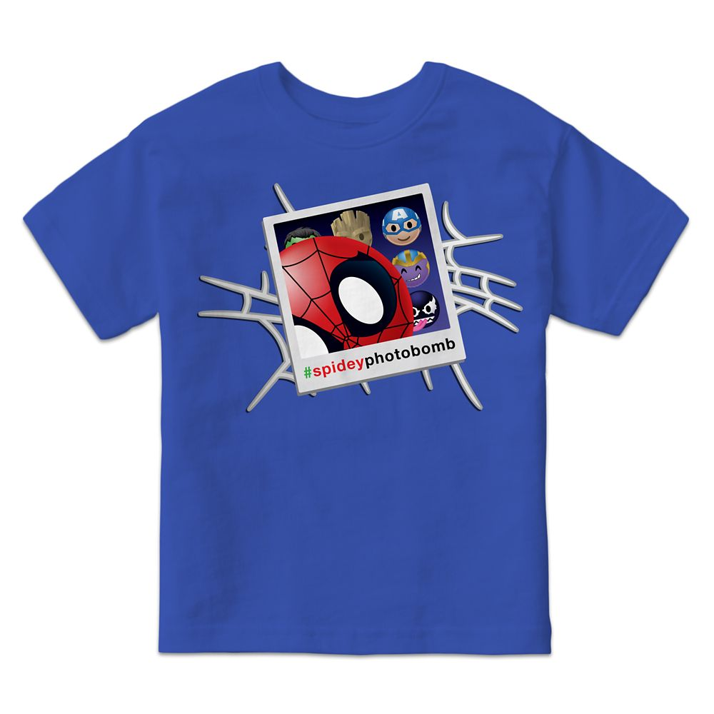 Spider-Man Photobomb Marvel Emoji Tee for Kids  Customizable Official shopDisney