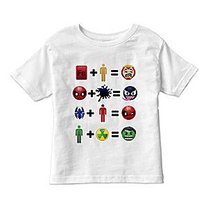 Marvel Emoji Equation Tee for Kids -