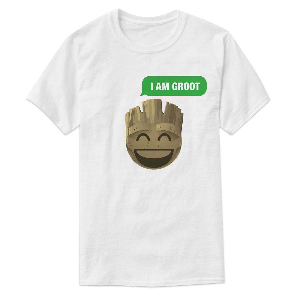 ''I Am Groot'' Text Emoji Tee for Men – Customizable
