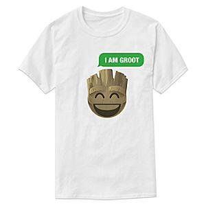 """I Am Groot"" Text Emoji Tee for Men – Customizable"