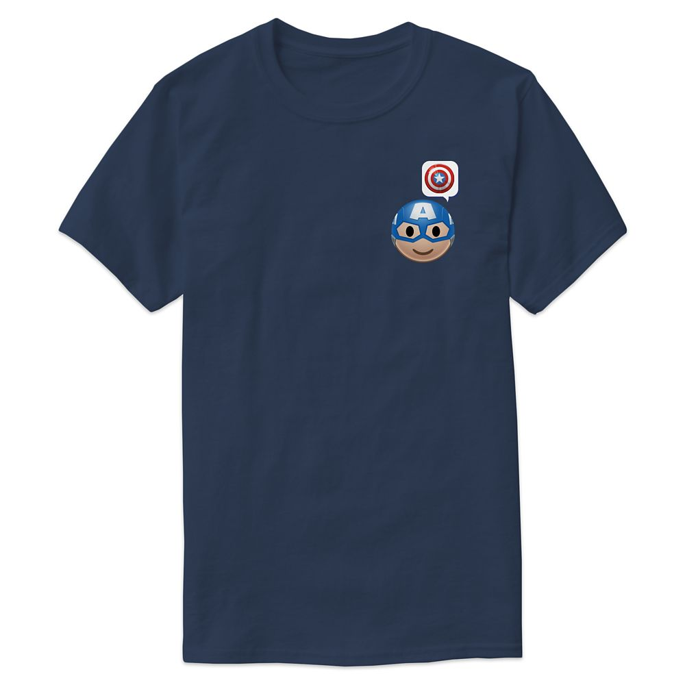 Captain America Emoji Tee for Men – Customizable