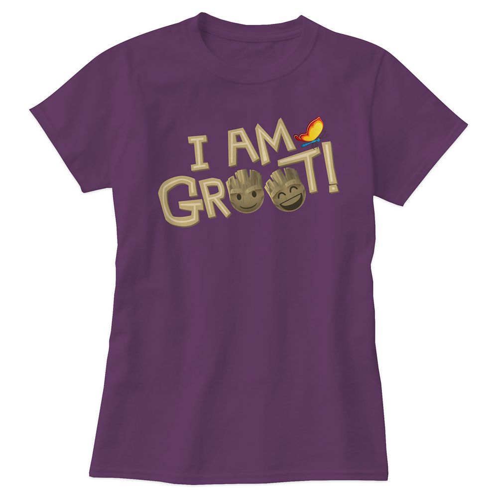 ''I Am Groot'' Text Emoji Tee for Women – Customizable