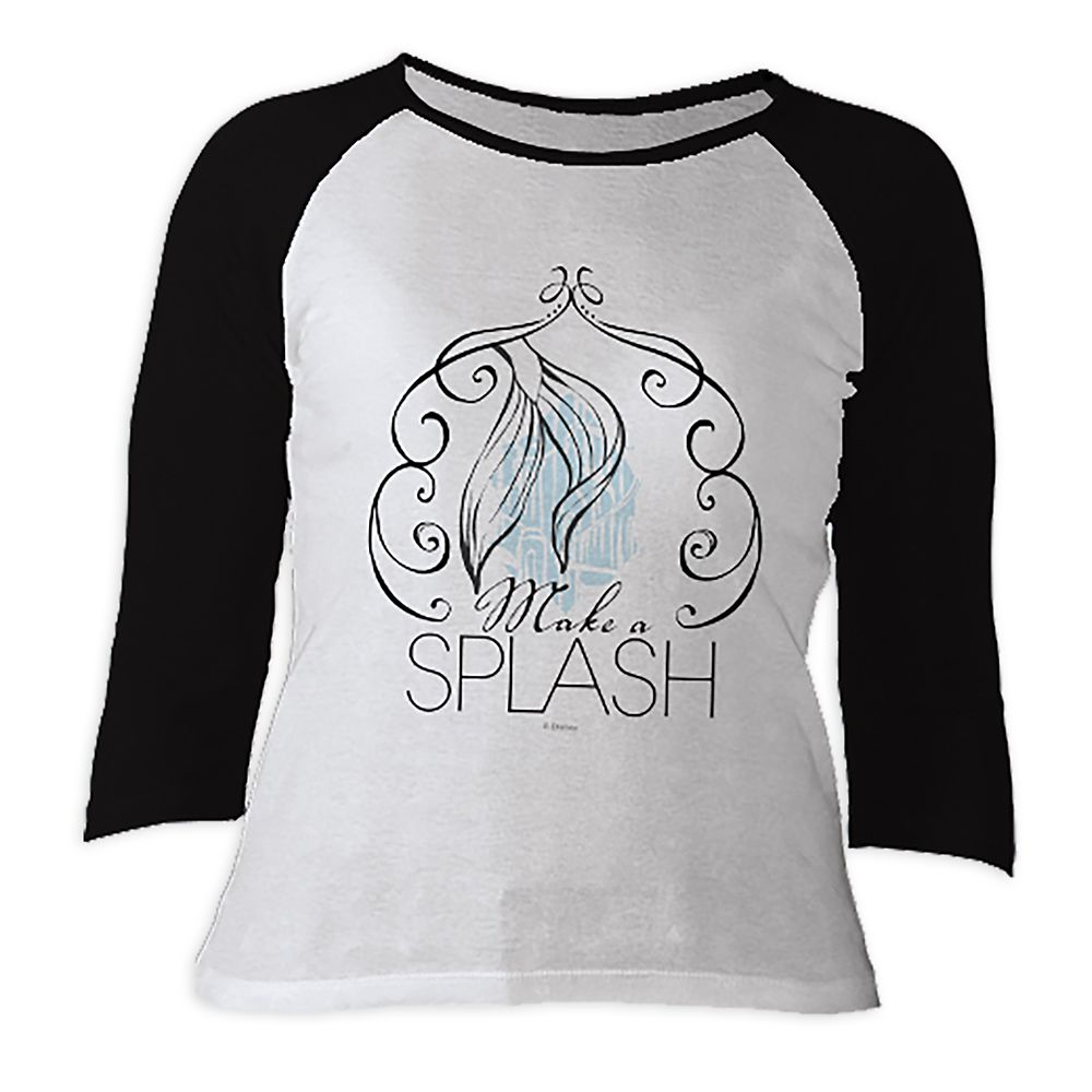Ariel ''Make a Splash'' Raglan Sleeve Tee for Women   Customizable Official shopDisney