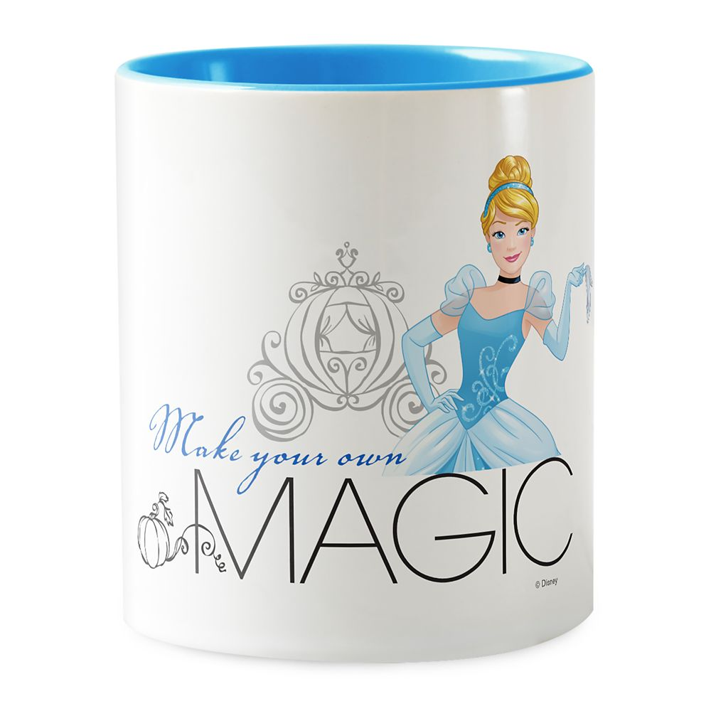Cinderella ''Make Your Own Magic'' Two-Tone Coffee Mug  Customizable Official shopDisney