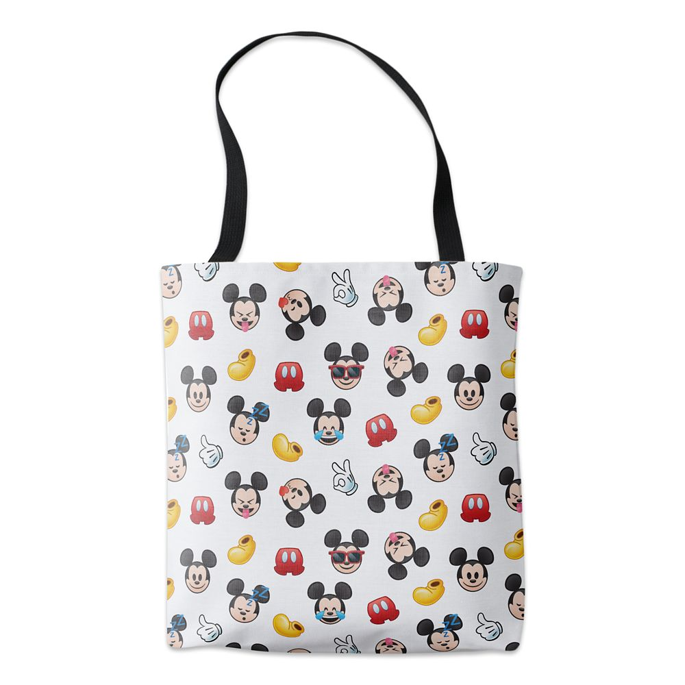 Mickey Mouse Emoji Pattern Tote  Customizable Official shopDisney
