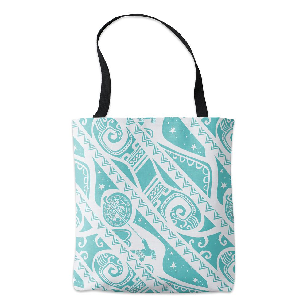 Moana Teal Aztec Pattern Tote  Customizable Official shopDisney