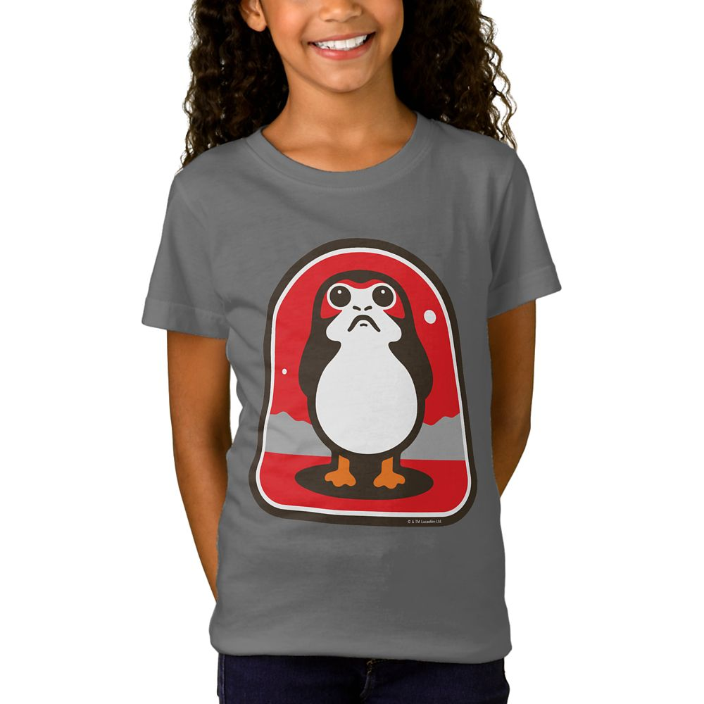 Star Wars: The Last Jedi Porg Badge T-Shirt for Girls – Customizable