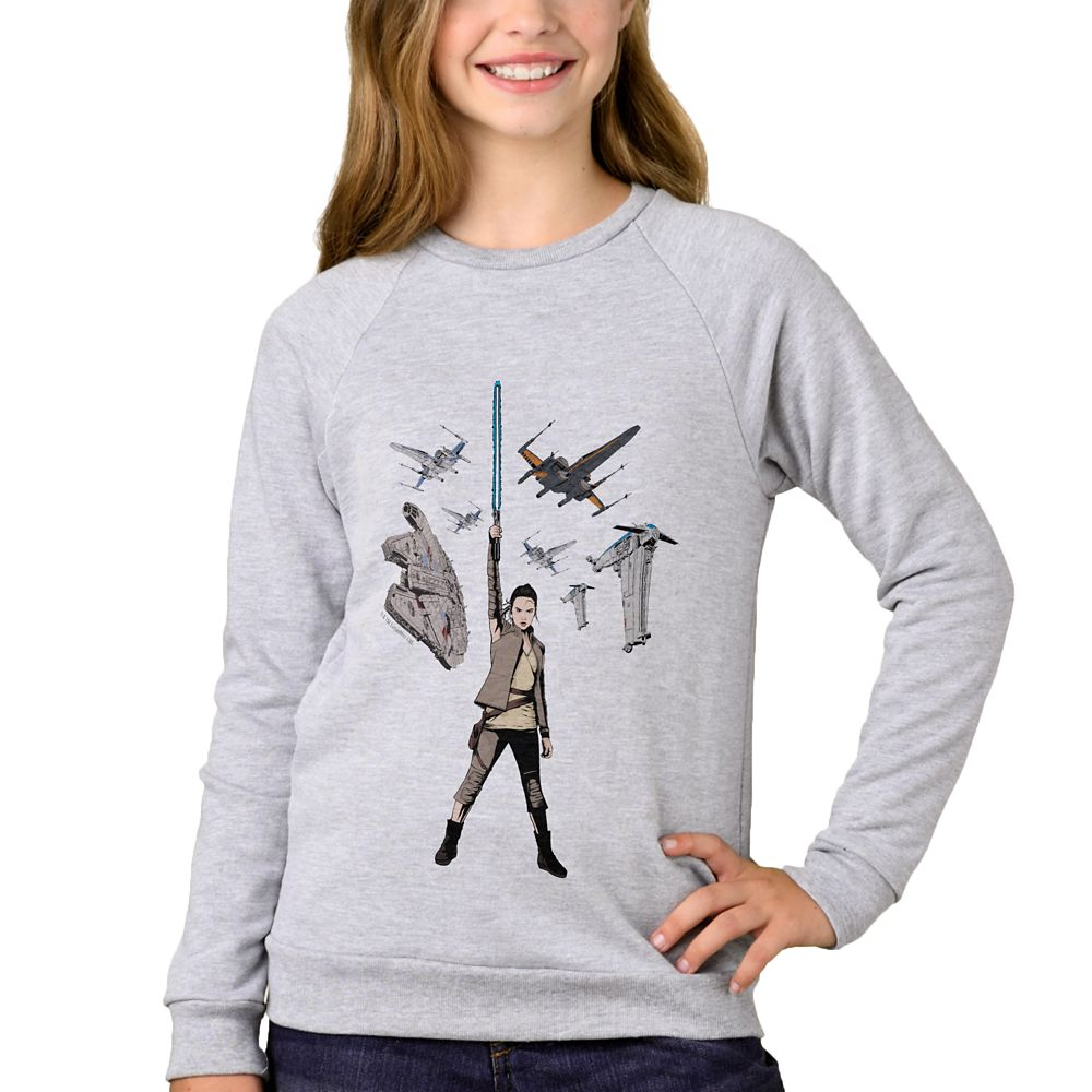 Star Wars: The Last Jedi Rey Raglan Sweatshirt for Girls – Customizable