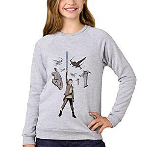 Star Wars: The Last Jedi Rey Raglan Sweatshirt for Girls - Customizable