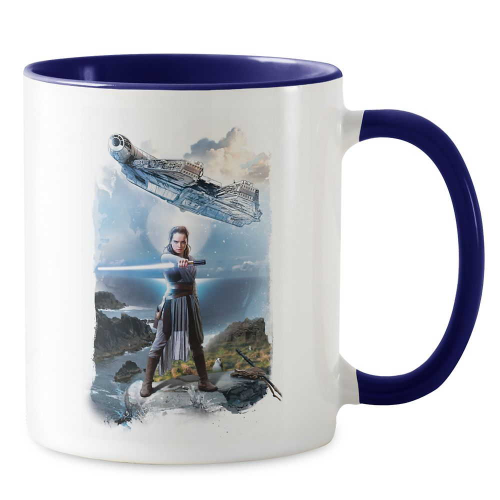 Star Wars: The Last Jedi Rey & Millenium Falcon Mug – Customizable