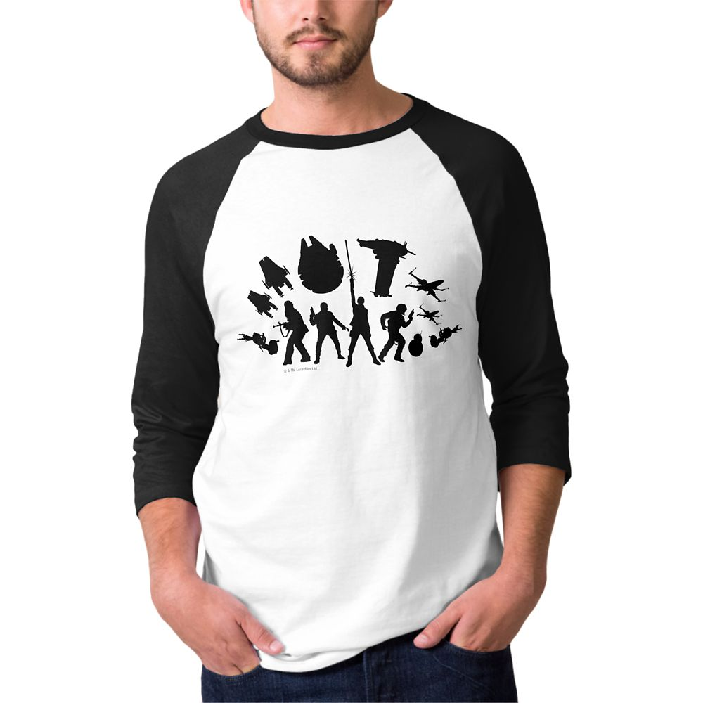 Star Wars: The Last Jedi Resistance Silhouette Raglan T-Shirt for Men  Customizable Official shopDisney