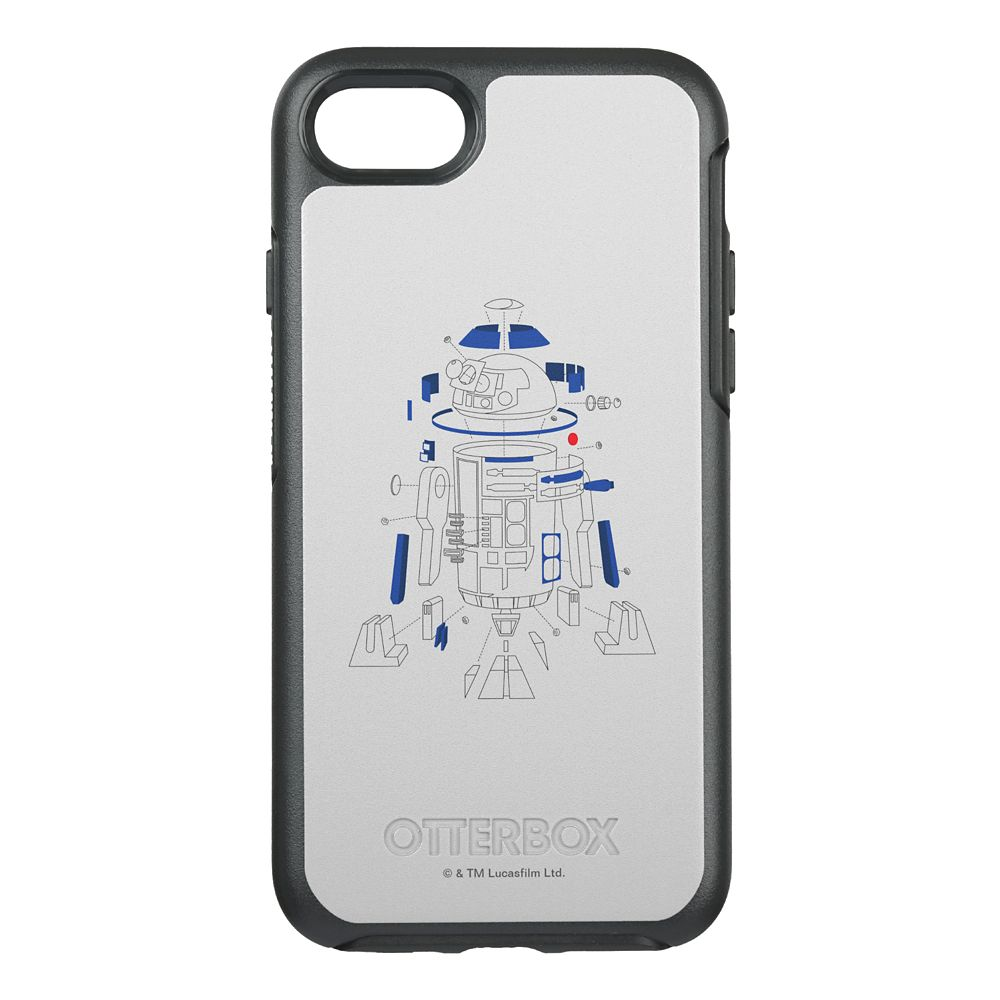 Star Wars: The Last Jedi R2-D2 Line Art Otterbox iPhone 7 Case – Customizable