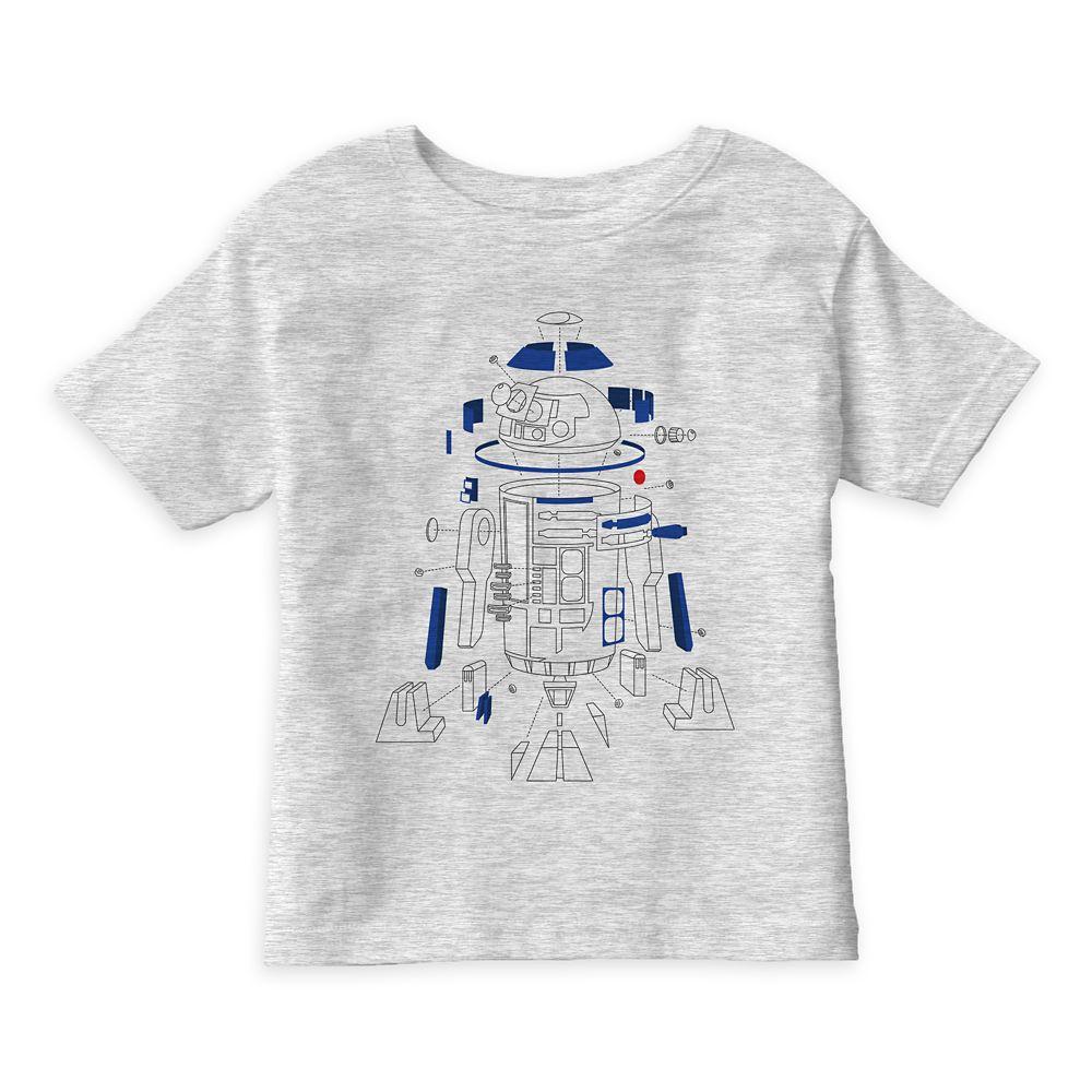 Star Wars: The Last Jedi R2-D2 Line Art T-Shirt for Kids – Customizable