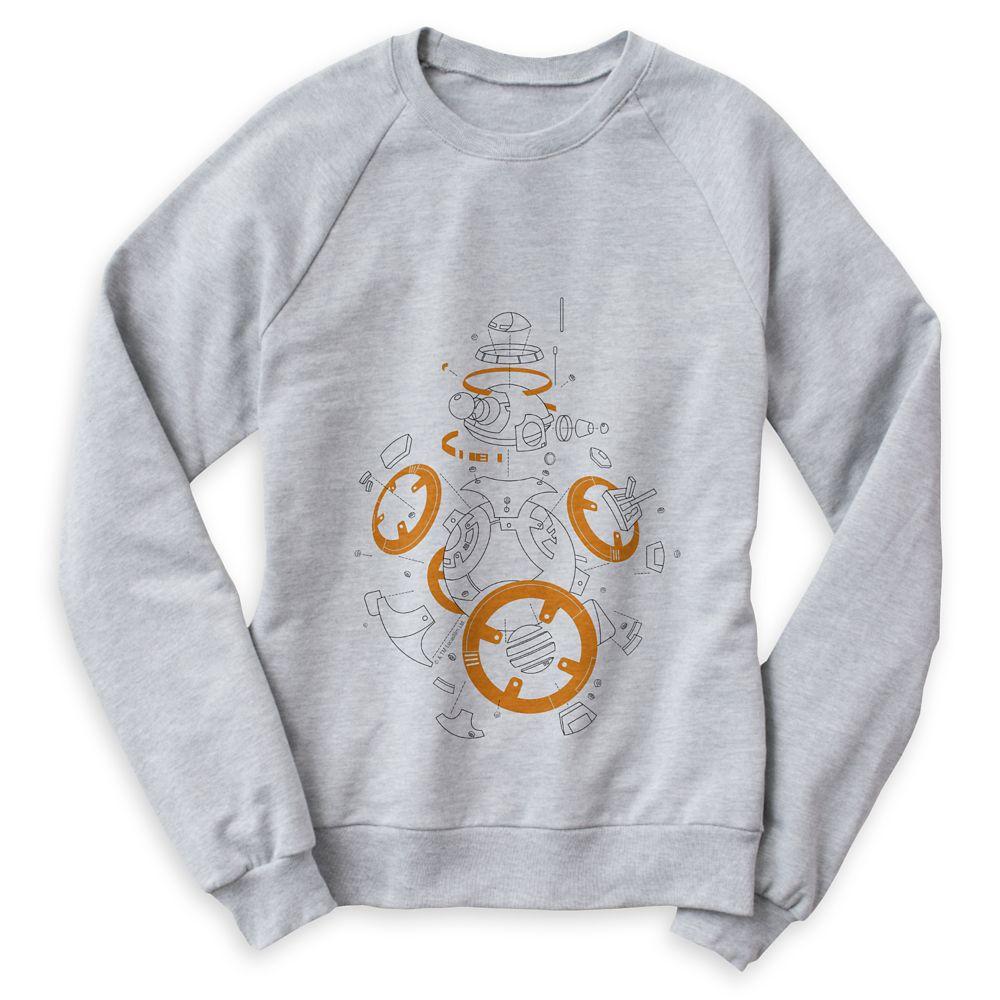 Star Wars: The Last Jedi BB-8 Line Art Raglan Sweatshirt for Women – Customizable