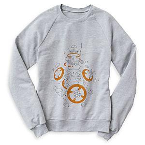 Star Wars: The Last Jedi BB-8 Line Art Raglan Sweatshirt for Women - Customizable