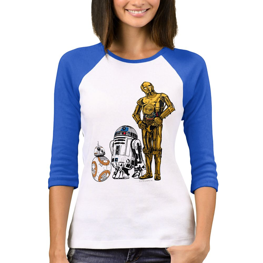 Star Wars: The Last Jedi Droids Raglan T-Shirt for Women – Customizable