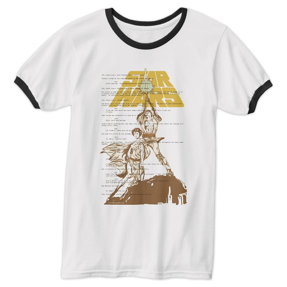 Star Wars Luke Skywalker & Princess Leia Ringer T-Shirt for Men – Customizable
