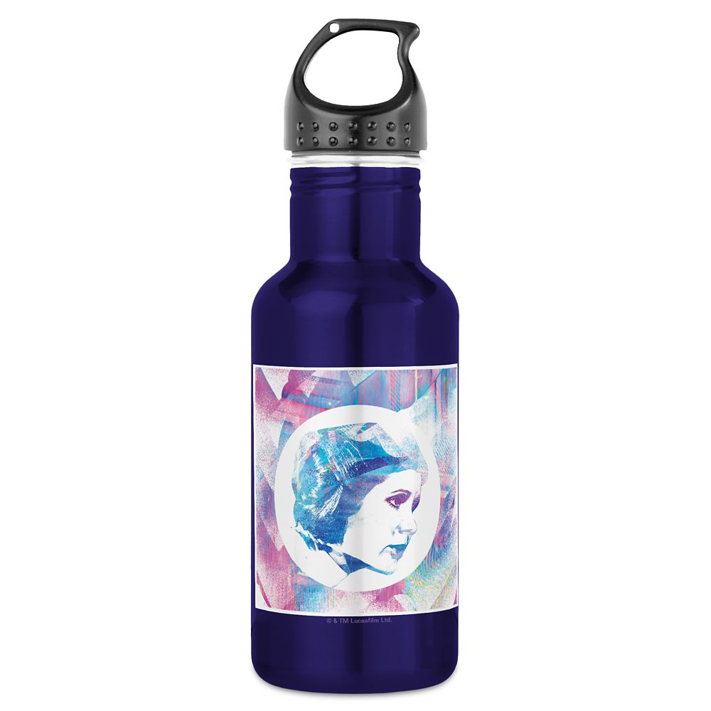 Princess Leia Iridescent Pop Water Bottle – Star Wars – Customizable