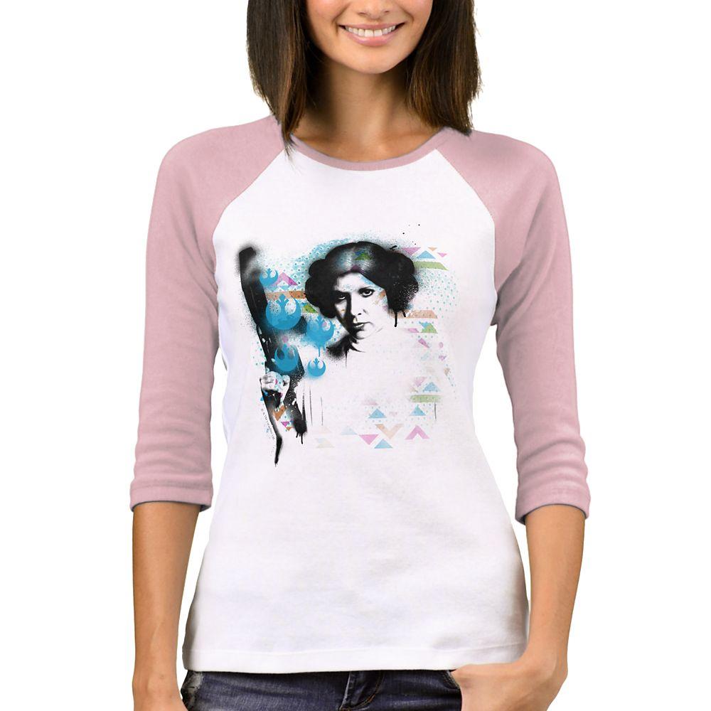 Princess Leia Space Escape Raglan T-Shirt – Star Wars – Women – Customizable