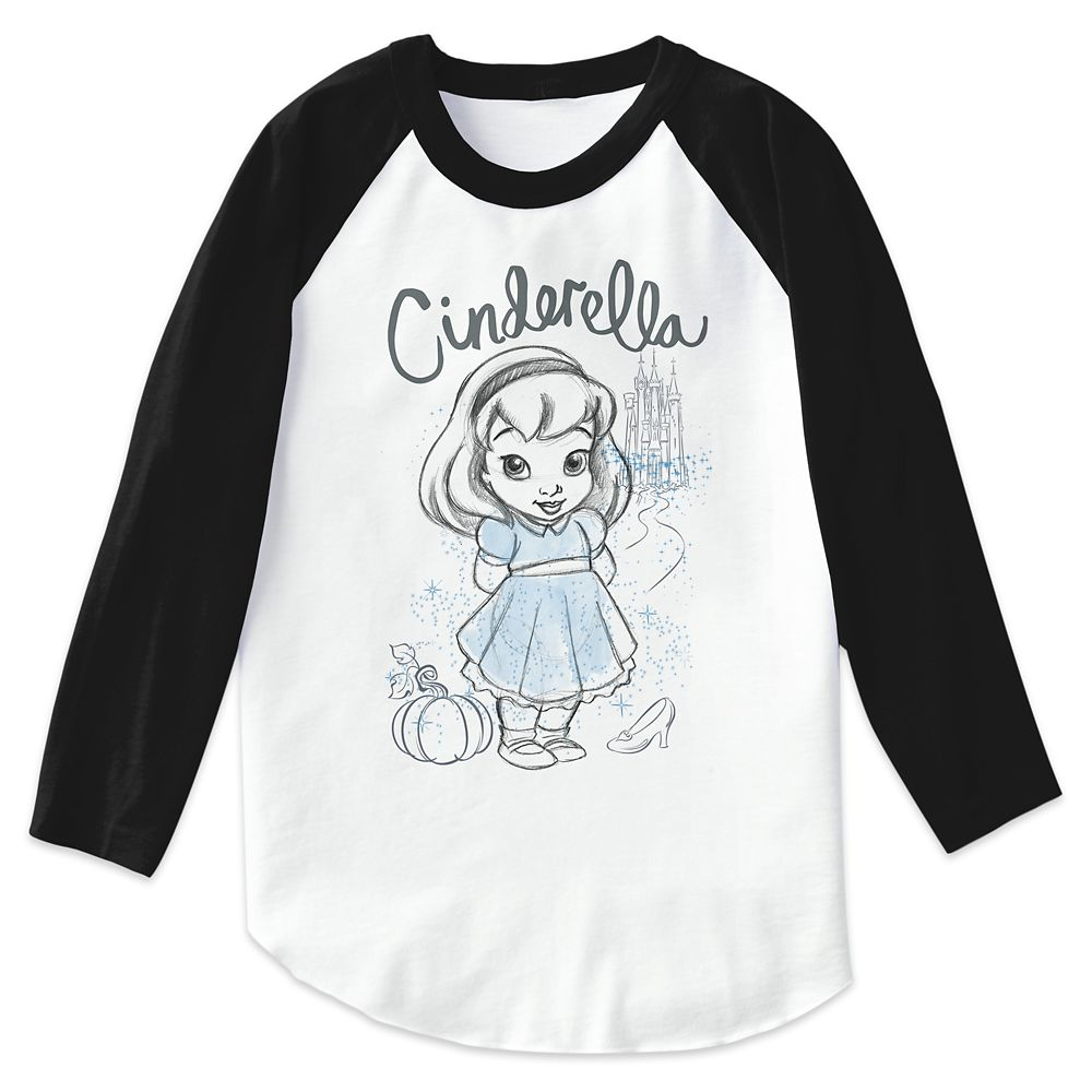 Cinderella Disney Animators' Collection Raglan T-Shirt for Kids  Customizable