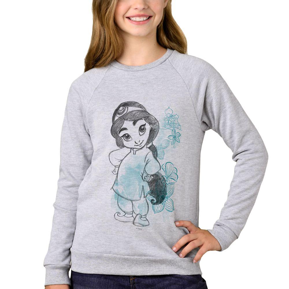 Jasmine Disney Animators' Collection Sweatshirt for Kids  Customizable