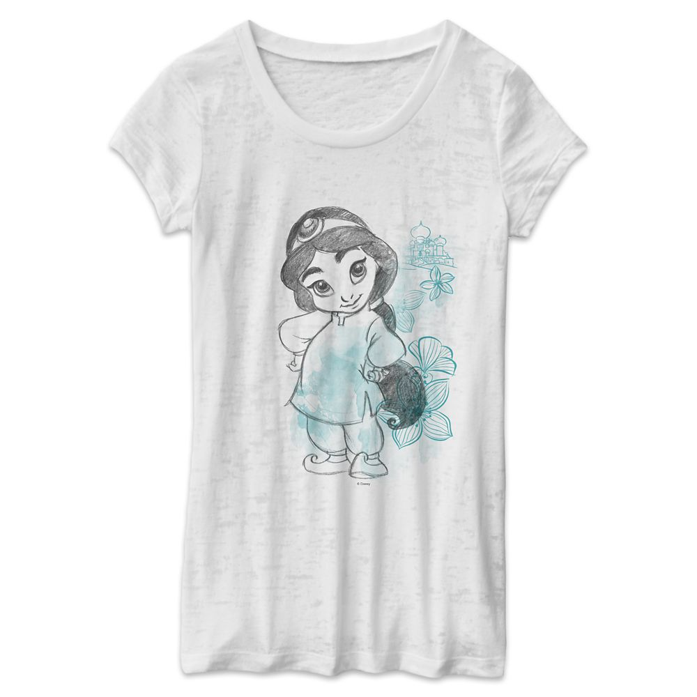 Jasmine Disney Animators' Collection Burnout T-Shirt for Women – Customizable