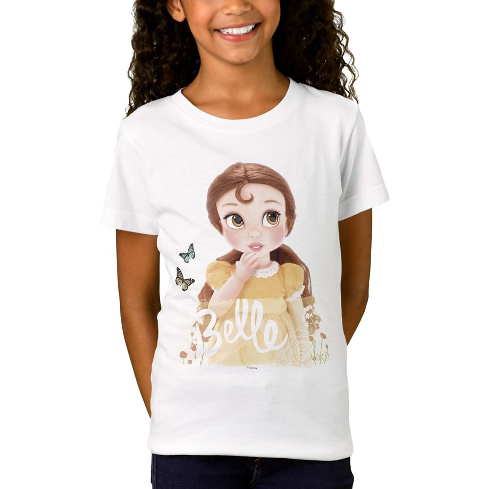 Belle Disney Animators' Collection T-Shirt for Girls – Customizable