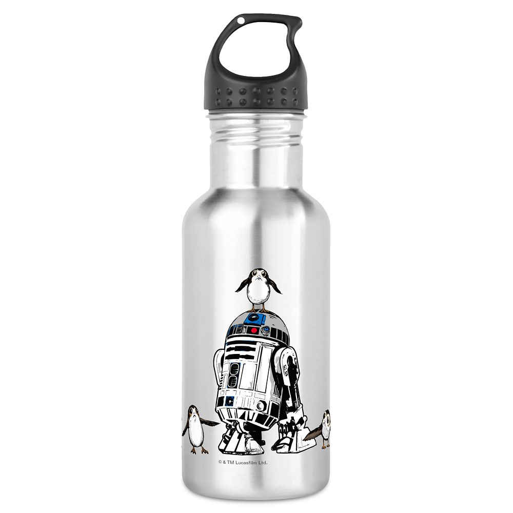 Star Wars: The Last Jedi R2-D2 & Porgs Water Bottle – Customizable