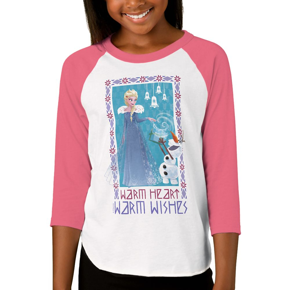 Olaf's Frozen Adventure Raglan T-Shirt for Girls – Customizable