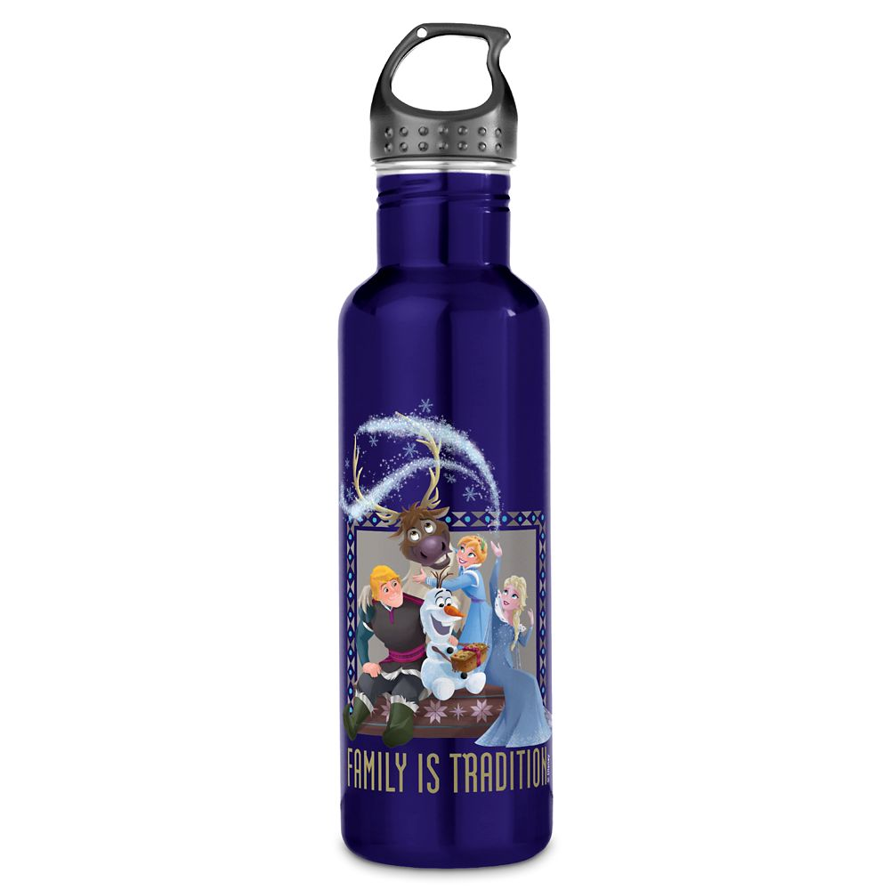 shopdisney.com - Olaf's Frozen Adventure Family is Tradition Water Bottle  Customizable Official shopDisney 24.95 USD