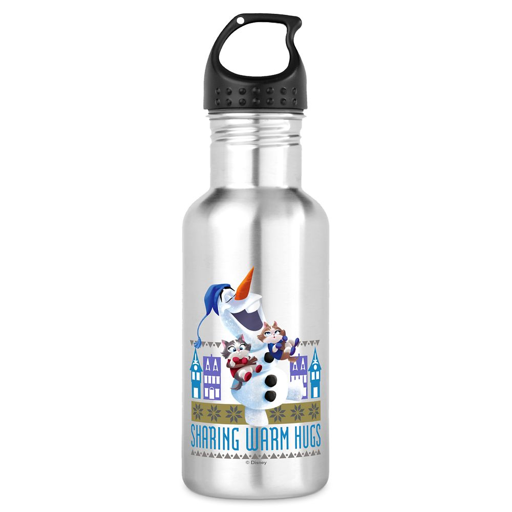 Olaf's Frozen Adventure Sharing Warm Hugs Water Bottle – Customizable