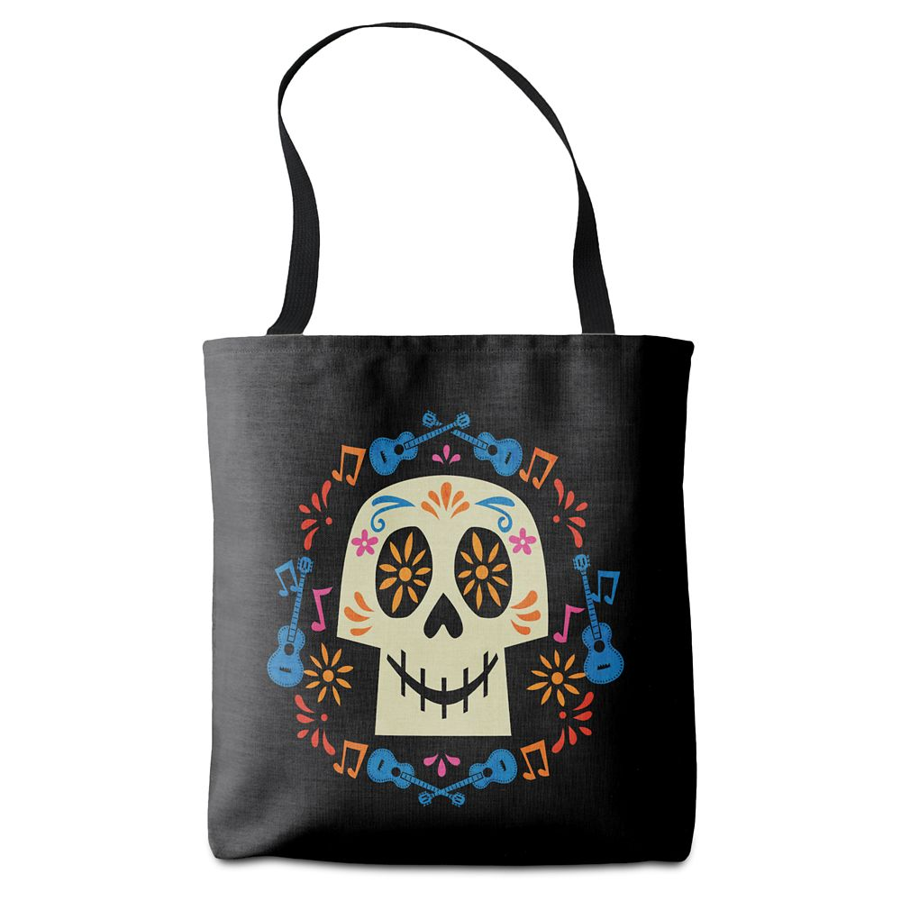 Coco Skull with Guitars & Flowers Tote Bag – Customizable