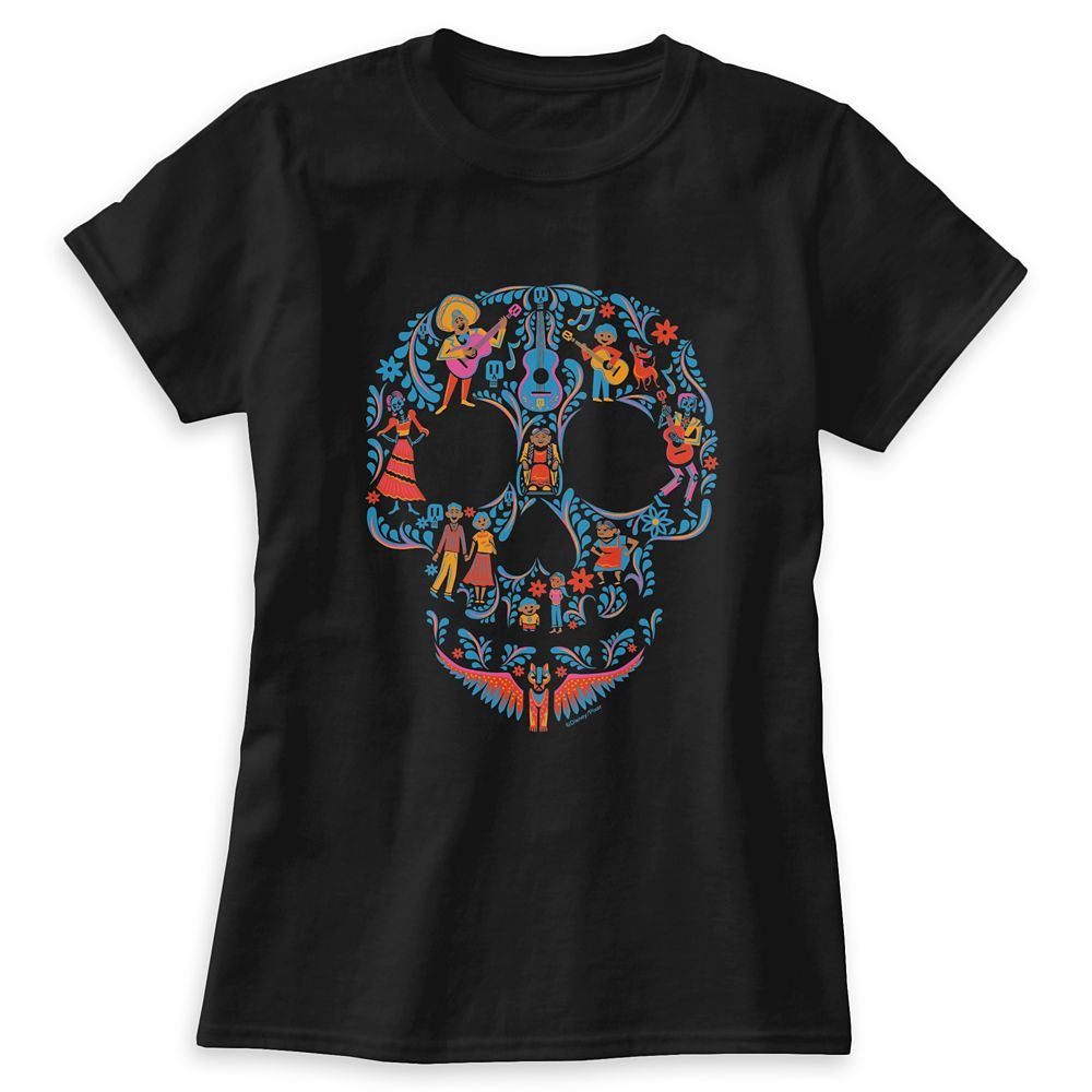 Coco Colorful Character Skull Graphic T-Shirt for Women – Customizable