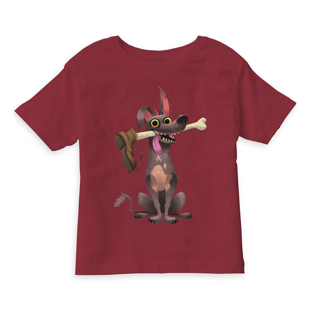 Dante Holding Bone with Shoe T-Shirt – Coco – Customizable
