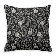 Coco Guitar & Rose Pattern Throw Pillow – Customizable
