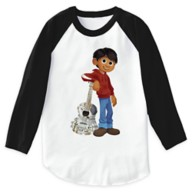 Miguel Playing Guitar Raglan T-Shirt for Boys – Coco – Customizable